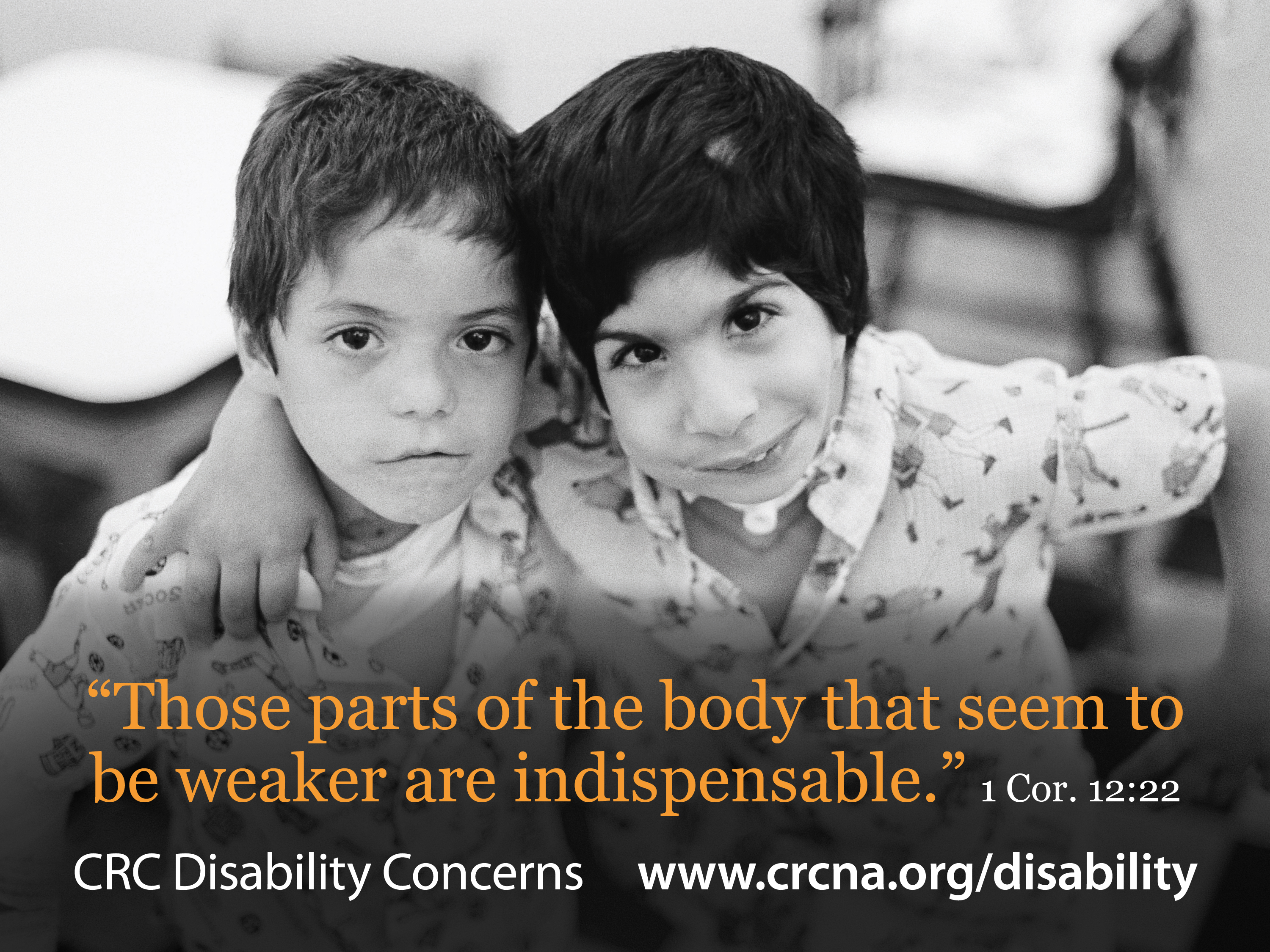 Two boys with visible disabilities