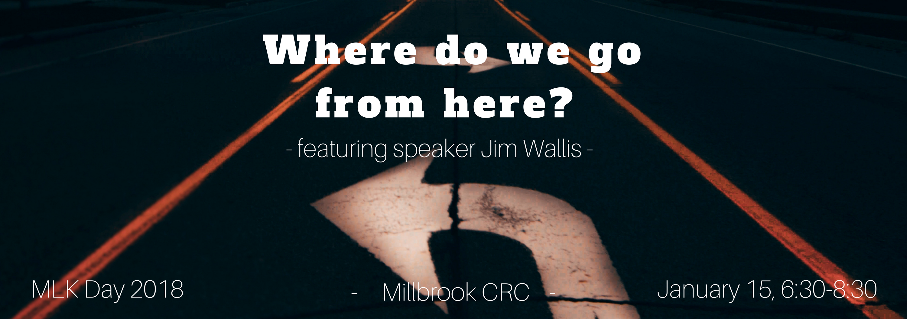 MLK Day event image highlighting Rev. Jim Wallis as speaker