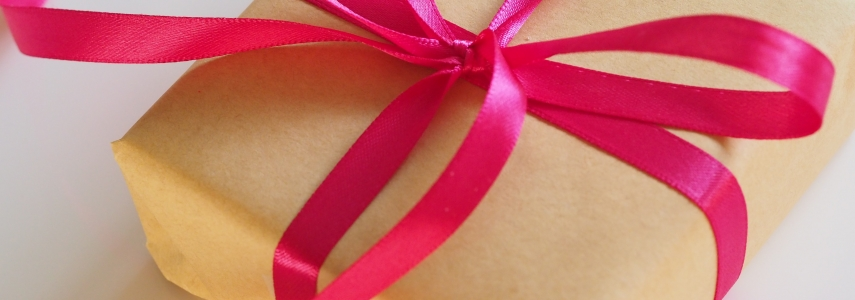 gift tied up with a bow
